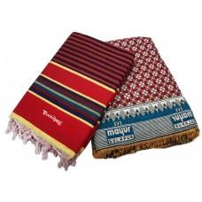 Pure Cotton Single Linning Satranji and Large Cotton Solapuri Small Designer Cotton Blanket cum Chaddar  - Ideal Combo Set