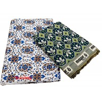 Floral Designer SIngle Cotton Solapur Chaddar And Traditional Designer Double Bedsheet With 2 Pillow Covers - Pack Of 2