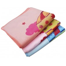 Cotton Extra Soft Cartoon Printed Baby/Kids Bath Towels - Pack Of 2