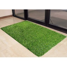 GREEN ARTIFICIAL GRASS DOOR MATS / BEST QUALITY DOORMAT - PACK OF 2