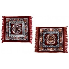 Pack of 2  Pure Velvet Pooja Aasan / Multipurpose Velvet Rug/ Meditation Mat / Prayer Mat