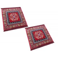 SET OF 2 PIECE VELVET POOJA AASAN MAT SET