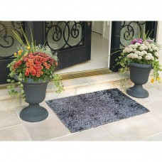 GREY COLORED ELEGANT SHAGGY BATH MAT DOOR MAT PACK OF 1