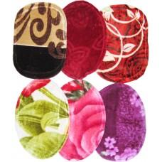 Door Mats 2 pcs Multi Colors Ultra soft In Floral Design