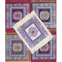 Velvet Pooja Aasan / Prayer Mat / Meditation Mat /Multi purpose Velvet Rug  Mat -Pack of 5