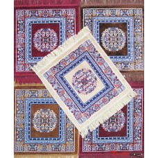 Velvet Pooja Aasan / Prayer Mat / Meditation Mat /Multi purpose Velvet Rug  Mat -Pack of 5