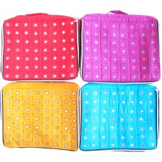 SAREE COVER / BAG/ HOLDER IN COTTON WITH MIRROR WORK / 10 SAREES BAG / SET OF 2 PIECES