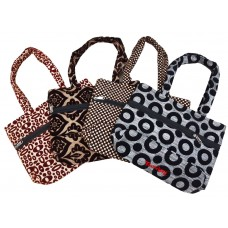 HAND MADE LADIES SHOULDER PURSES IN COTTON AND VELVET PURSES - PACK OF 2
