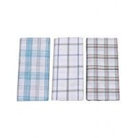 100% Cotton Men's Lungi in Assorted Color and Checks Pack of 3