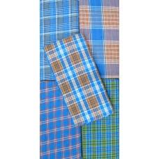Handloom Block Print Cotton Checks Soft Lungies - Set of 5 pcs / 2.25 Metres