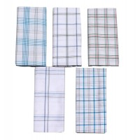 Lungi For Men's 100% Cotton Lungi Assorted Color and Checks Pack of 5 - 2 mtrs