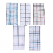 Lungi For Men's 100% Cotton Lungi Assorted Color and Checks Pack of 5