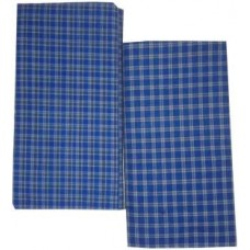 Pack of 2 Blue Cotton Lungi's  in Checks / Best Quality Cotton - 2 mtrs