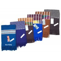 COLORFUL WOOLEN SOFT MUFFLERS / UNISEX - PACK OF 2 MUFFLERS