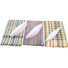 Gandhi topis and Cotton Checks Towels / Return Gifts for Indian Marriages and functions -Set of 12 pieces