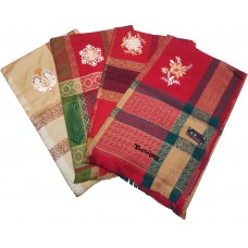 FANCY EXCLUSIVE SHAWLS LADIES WOOLEN THICK SHAWL / STOLE  WITH BORDER SELF DESIGNS- PACK OF 1