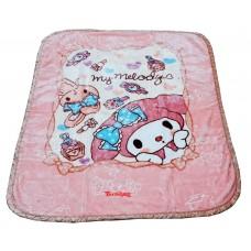 CUTIE PINK PRINTED SOFT BABY BLANKET - PACK OF 1