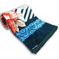 Embossed Floral Printed Mink Double Blanket /  Designer Blanket