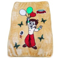 Chota Bheem Soft Mink Blanket For Babies Baby Blanket  - Pack Of 1