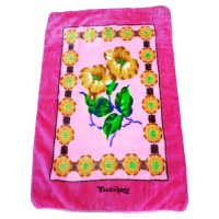 Flower Design Soft Mink Blanket For Babies / Baby Wrapper All Season Blankets - Pack Of 1
