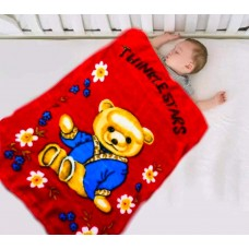 Baby Blanket Cum Baby Wrapper All Season Soft Mink Blanket For Babies Pack Of 1