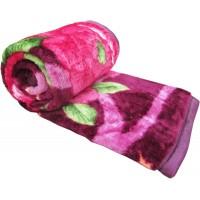 SOFT MINK FLOWER PRINTS SINGLE BED BLANKET - PACK OF 1