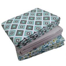 Beautiful Floral Design Pure Cotton Reversible Dohar/Ac Blanket For Double Bed Pack Of 1