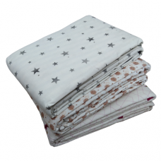 Double Size Reversible Pattern Pure Cotton Summer Blanket/Dohar/Ac Blanket Pack Of 1