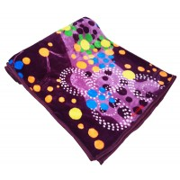 MINK SINGLE BED BLANKET IN FLOWER PRINTS AND ABSTRACT DESIGN  - PACK OF 1