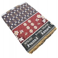 CLASSICAL DOUBLE PETTI  BRIGHT FLORAL DESIGN CHADDAR / BLANKET  - PACK OF 1