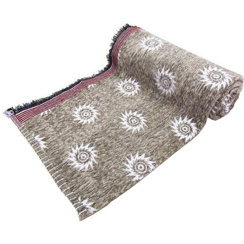 Jacquard Design Velvet Cotton Solapur Chaddar Blanket Set Of 3