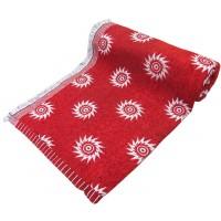 RED COLOR VELVET CARPET COTTON CHADDAR BLANKET PACK OF 1