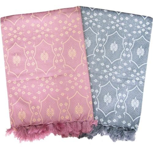 Single Bed Silk Polyester Fancy Blanket Cum Bedsheet Pack Of 2