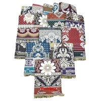 SUPER THICK BEST QUALITY SOLAPUR FLORAL DESIGN COTTON CHADDARS / BLANKETS IN BULK - PACK OF 15 PIECES