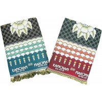 LEAFY DESIGN SOLAPUR CHADDARS IN  100% COTTON  - PACK OF 2
