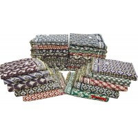 PURE COTTON DAILY USE SINGLE BED BLANKETS / SOLAPUR CHADDARS IN BULK - PACK OF 20 PIECES