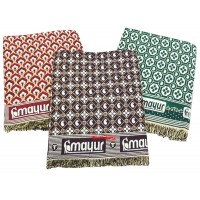 UNIQUE FLORAL DESIGN COTTON SINGLE BED DAILY USE SOLAPUR CHADDAR - PACK OF 3