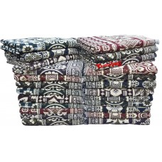 SPECIAL MAYURPANKH BLOCK DESIGN PURE COTTON SOLAPUR CHADDAR / BLANKETS IN BULK - PACK OF 25 PIECES