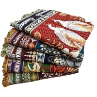 THICK QUALITY SOLAPUR CHADDAR  PURE COTTON IN BEAUTIFUL DESIGN AT DISCOUNT - PACK OF 5