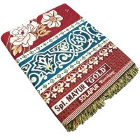 PREMIUM COTTON JAQUARD DESIGNER FLORAL THICK SOLAPUR CHADDAR / BLANKET  - PACK OF 1