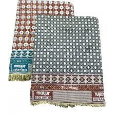 COMBO SET LARGE SIZE SOLAPUR CHADDARS IN SMALL FLORAL DESIGN 100% COTTON - PACK OF 2