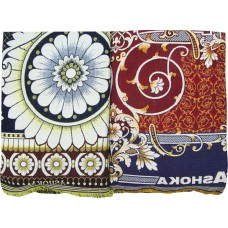 DOUBLE / JUMBO SIZE THICK SOLAPUR CHADDAR / BLANKET CUM CARPET IN PURE COTTON / FLORAL DESIGN CHADDAR