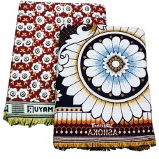 Double Size Thick Quality Solapur Chaddar Cum Bedsheet in Pure Cotton - Pack Of 2