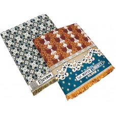 Pure Cotton Jaquard Design Solapur Chaddar Blanket in Jumbo Size 108*90 Pack Of 2