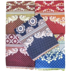 BEAUTIFUL THICK AUTHENTIC DESIGNER LARGE SIZE PURE COTTON CHADDAR / BLANKET / BEDSHEET - PACK OF 1