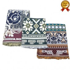 3 VARIETIES  EXCLUSIVE SET JUMBO LARGE AND SINGLE SIZE THICK SOLAPUR 100% COTTON BLANKETS / BEDSHEETS SET - PACK OF 3 CHADDARS