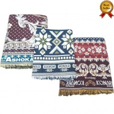 SINGLE LARGE AND JUMBO SIZE THICK SOLAPUR 100% COTTON BLANKETS / BEDSHEETS SET IN 3 VARIETIES - PACK OF 3