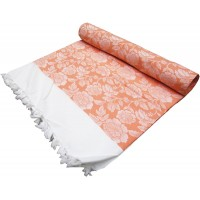 SOLAPUR LIGHT WEIGHT DOUBLE SIZE CHADDAR / BLANKET IN PURE COTTON FLORAL DESIGN CHADDAR - PACK OF 1
