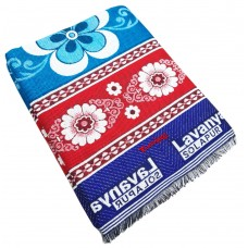 DESIGNER BRIGHT COLOR FLORAL DESIGN / SOLAPUR CHADDAR IN PURE COTTON AND WOOL - PACK OF 1