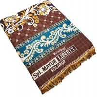 JACQUARD HEAVY QUALITY COTTON  LATEST PATTERN COLORFUL CHADDAR / BLANKET  - PACK OF 1